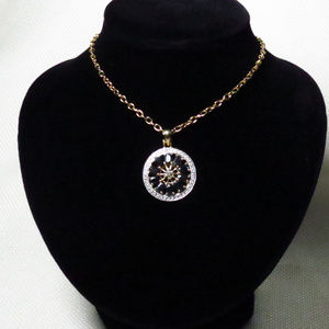 Jewelry - Large Dark Blue Sapphire Pendant Necklace
